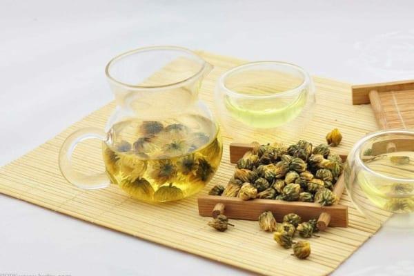 Hình ảnh trà thảo mộc hoa cúc