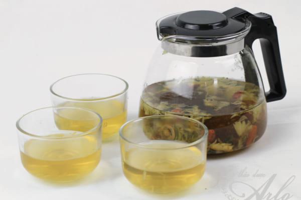 trà hoa cúc có tác dụng thải độc gan